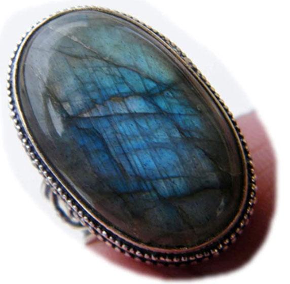 Surbhi Crafts Labradorite Ring, Designer Ring, Handmade Ring, Silver Plated Ring