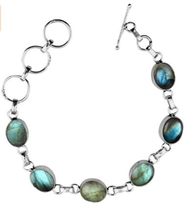Natural Labradorite Bracelet