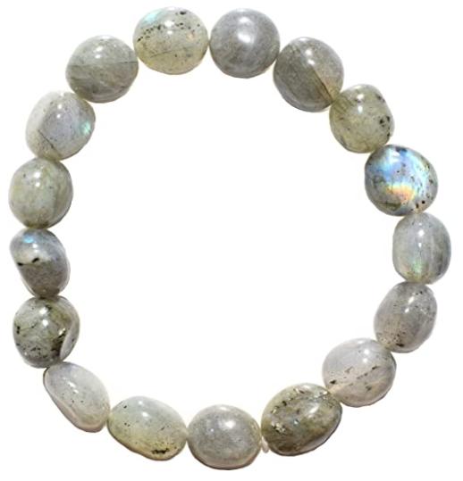 Zenergy Gems Selenite Charged Natural Labradorite Crystal Bracelets